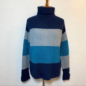 C&C California Color Block Funnelneck Sweater